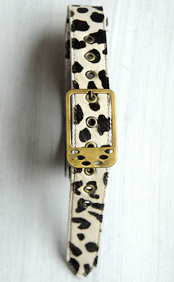Cinturón Animal Print Hebilla Rectangular